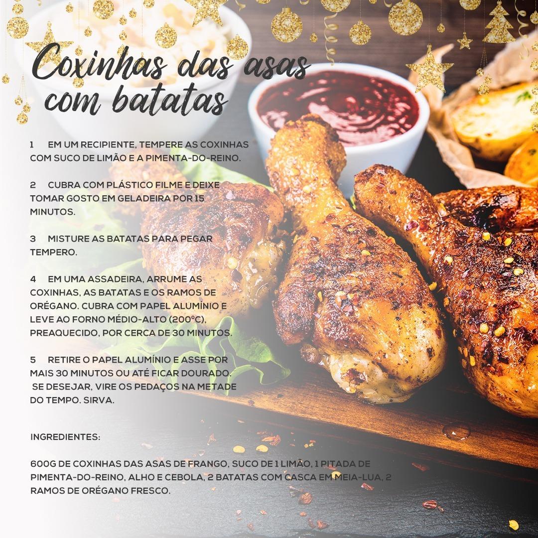 Coxinhas das asas com batatas
