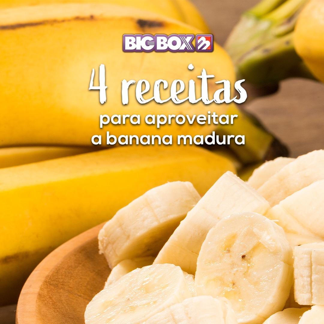 4 RECEITAS COM BANANAS MADURAS