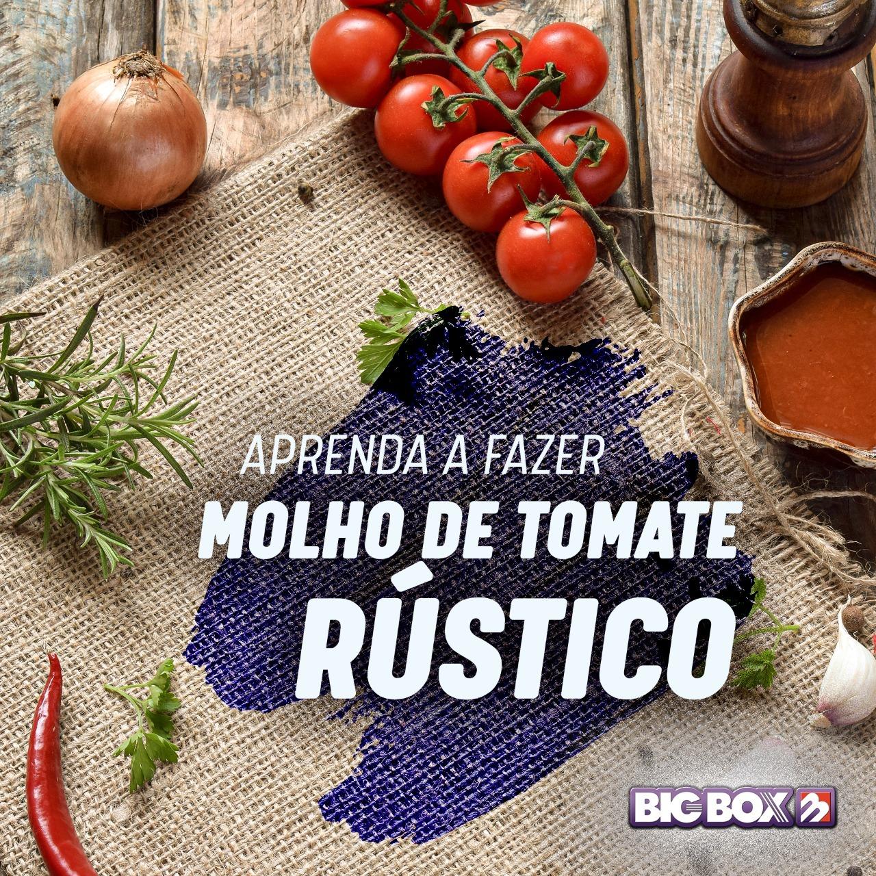 Aprenda a fazer molho rústico de tomate